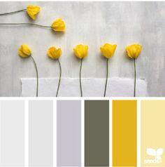 Flores Amarelas Colour Pallette Color Palette Gray Website Yellow Schemes