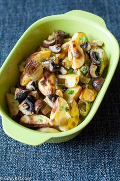 Roasted Potatoes, Leeks and Mushrooms recipe. This is a perfect side dish to any meal.