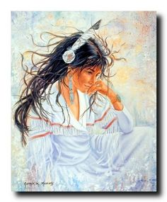 Wow! This wall poster carries a story to tell. This poster captures the picture of Native American Indian Maiden remembering her old beautiful memories is sure to bring elegant charm into your home. This would become the focal point of your home. Discover the uniqueness of this poster and Order today for its durable quality and excellent color accuracy. Order today and enjoy your surroundings.