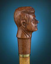 John F. Kennedy Figural Walking Stick