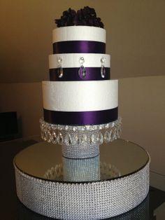 18 Rhinestone Diamond Wrap Wedding Cake / Cupcake by PadipaDesigns, $189.00