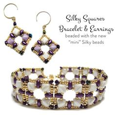Silky Squares Bracelet and Earrings