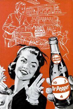 Dr. Pepper ad in 2 colors...brilliant!