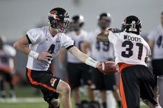 There's no quarterback controversy in Corvallis, where sophomore Sean Mannion has the reins. Beavers, Sports Games, Football Helmets, Oregon, Nfl, Ceiling, Sports, Ceilings