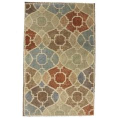This rug's contemporary style and distinctive geometric pattern are sure to bring warmth and elegance into any room. Manufactured entirely in the United States, American Rug Craftsmen's woven area and accent rugs are beautiful additions to any room in your home. In addition to their fashionable styles and colors, the rugs are durable and satin resistant.