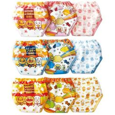 3pcs Anpanman 3 layers underwear cartoon Baby Training Pants Infant Diapers Toddler Nappies Boy Girl's Shorts Briefs Underwears