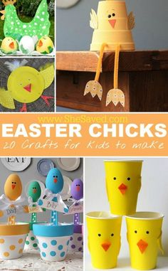 Easter & spring mean new life and all of the excitement that goes along with it! Let the little ones get in on the fun with these 20 Easter Chick Crafts for Kids that will keep them busy and also create some fun decorations for your home!