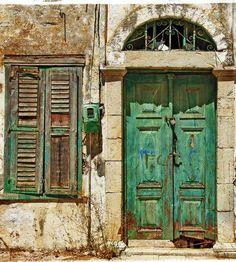 green jade vintage door and window_151129958
