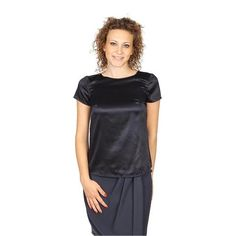 Armani Collezioni ladies shirt short sleeve without buttons RMC05T RM301 999