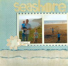 Seashore pg 1 - Scrapbook.com
