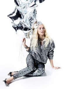 Shiny silver and sequin style