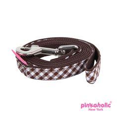 Venus Dog Leash by Pinkaholic - Brown - https://barkavenuebycucciolini.ca/product/venus-dog-leash-by-pinkaholic-brown/