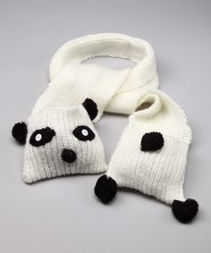 Paco Panda Scarf #zulily #fall  Naomi loves pandas, must have!