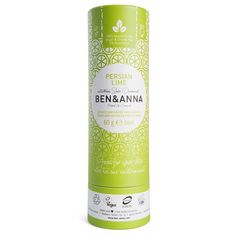 Ben & Anna Natural Soda Deodorant - Persian Lime 60g