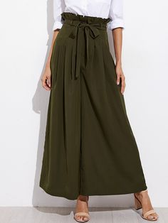 Shop Belted Box Pleated Palazzo Pants online. SheIn offers Belted Box Pleated Palazzo Pants & more to fit your fashionable needs.