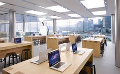 Apple Retail Store - ifc mall Retail Merchandising, Furniture Factory, Steve Jobs, Hong Kong, Shops, Apple, China, Architecture, Interior