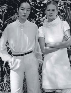 Photography: Collier Schorr. Styled by: Daniela Paudice. Hair: Esther Langham. Makeup: Dick Page. Models: Anna Ewers and Fei Fei Sun.