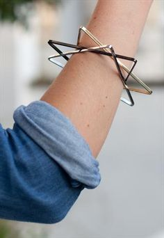 DIY ACCESSORY INSPO | 3-Set Triangle Bangles