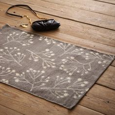 Berry Branch Printed Cotton Dhurrie | west elm
