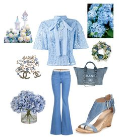 """Hydrangea Beauty....."" by kotnourka ❤ liked on Polyvore featuring STELLA McCARTNEY, Martha Medeiros, Donald J Pliner, Chanel, Michael Kors, Ethan Allen and Frontgate"