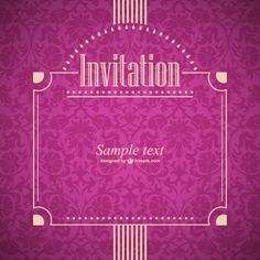 Vector invitation retro style