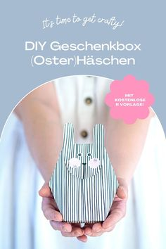 DIY (Oster-)Hasenschachtel aus Papier mit Download-Vorlage Printables, Crafty, Paper Mill, Natural Colors, Stocking Stuffers, Bunny, Templates, Tutorials, Print Templates