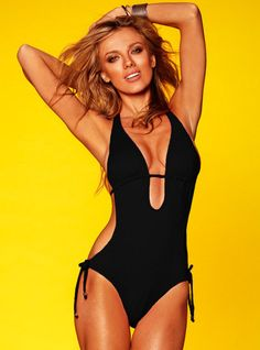 black Monokini one piece swimsuit with cut outs by BenzoCouture, $65.00