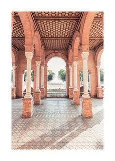 Columns in Seville Plakat