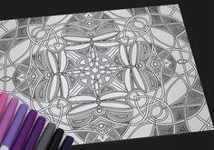 Original symmetrical adult coloring pages, great for any media or paper. These beautiful symmetricals are great for advanced coloring and a perfect way to lose yourself in relaxing color and design!  This is a digital item, and will be available for download after purchase. No physical item will be shipped. File consists of one coloring sheet in high resolution (300 dpi) PNG format and the printed image measures 8.5 x 11.  This printable coloring page is for personal use only. Feel free to…