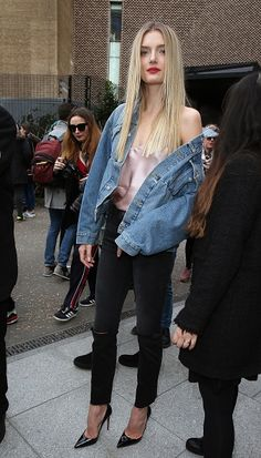 Lily Donaldson seen at Topshop Unique at Tate Modern on Day 3 of London Fashion Week February 2017 on February 19 2017 in London England
