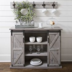 Slide into farmhouse style with this country cabinet.