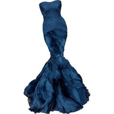 Satinee's collection - Vera Wang ❤ liked on Polyvore featuring dresses, gowns, long dresses, vestidos, blue evening gown, blue ball gown, long blue dress and vera wang gowns