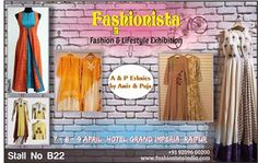 Ladies, it's time to pamper yourself! Discover the superb craftsmanship and bring a touch of unique elegance to your wardrobe with A & P ETHNICS WEAR by AMIT & PUJA at Fashionista - Fashion & Lifestyle Exhibition Raipur When: 7-8-9 April '17 Where: Hotel Grand Imperia Timings: 11am to 8pm ENTRY FREE for Visitors. #DesignerWear #EthnicWear #Kurtis #SalwarSuit #Shopping #ShoppingTherapy #Shopaholics #Fashion #Fashionista #FashionExhibition #LifestyleExhibition #Raipur #FewDaystogo