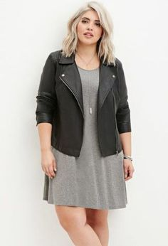 This Stylish plus size outfits for winter 2017 56 image is part from 130 Stylish Plus Size Outfits Ideas for Winter 2017 that You Must Try gallery and article, click read it bellow to see high resolutions quality image and another awesome image ideas. Curvy Fashion, Girl Fashion, Fashion Outfits, Plus Fashion, Womens Fashion, Trendy Fashion, Jackets Fashion, Mode Chic, Mode Style