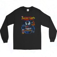 Amazing Symbi Oats Venom Vintage 90s Style Long Sleeve Shirt Short Models, 90s Outfit, 90s Style, Venom, 90s Fashion, Going Out, Long Sleeve Shirts, Graphic Tees, Short Sleeves
