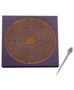 Purple Wooden Meditation Labyrinth, Medieval Design