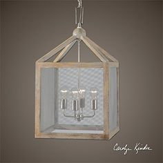 29 Carolyn Kinder Gray Taupe Wash Wooden Lantern 4Bulb Pendant Ceiling Light Fixture >>> Check this awesome product by going to the link at the image.