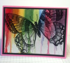Absolutely LOVE this! How beautiful! Paper Fairy: Dripping Ink Technique - Swallowtail