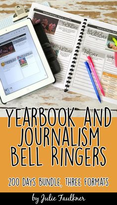 These no prep, highly engaging yearbook class starters, designed specifically for yearbook or journalism take just a few minutes but will be very powerful in building crucial skills throughout the year and getting class started on the right foot. Yearbook. Journalism. Activities. Workbook. Google files. Lessons. Warm Ups