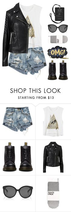 """Glam Rock"" by lysianna ❤ liked on Polyvore featuring Dr. Martens, Witchery, Rebecca Minkoff, Summer, music, bandtees, polyvorecontest and summer2017"