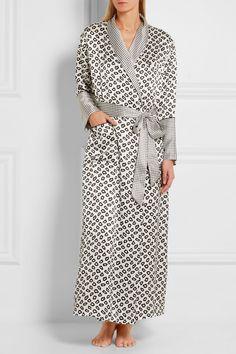 Olivia von Halle   Capability Amaya printed silk-satin robe   NET-A-PORTER.COM