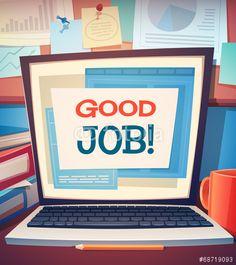 Wektor: Laptop card \ poster design. Vector illustration.