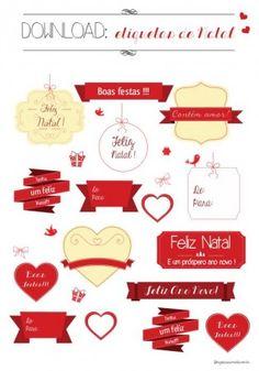 Download de etiquetas de Natal