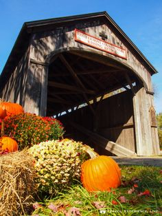 Covered #Bridges of #Vermont: Victorian Village Bridge