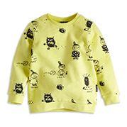 Mönstrad sweatshirt - 100% Bomull