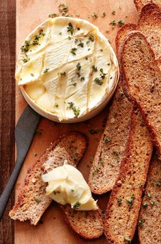 Thyme and Garlic Baked Camembert from www.whatsgabycooking.com (@whatsgabycookin)