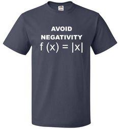 Avoid Negativity Shirt Funny Math Geek Tee - oTZI Shirts - 5