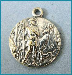 Your place to buy and sell all things handmade Patron Saints, Middle Ages, Vintage Silver, Metal Working, Christianity, Bling, Inspirational, Personalized Items, History