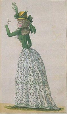 Journal de la Mode et du Gout, September 1790. This is perfection! What a lovely…