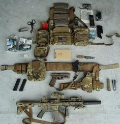 ATS M4 Modular Chest Harness (left-to-right)ATS Small Medical PouchATS Suppressor Pouch PrototypeATS Combat Leader's Admin PouchATS Medium Zippered Utility PouchATS War Belt Prototype (left-to-right)Emdom Gear Single pistol mag pouch X2ATS Roll-Up Dump PouchStrider DB-L NSN kydex sheathSafariland 6004 in HSGI UDHPEmdom Gear Double Pistol Mag Pouch on HSGI UDHP